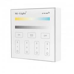 Nástenný dotykový ovládač RGB/RGBW/CCT pre RF prijímače a svietidlá MiLight-B2 Panel