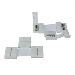 T-spojka pre RGB LED pásy flexibilná IP20 10mm s plastovými klipmi