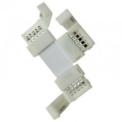 T-spojka pre RGBW LED pásy flexibilná IP20 10mm s plastovými klipmi