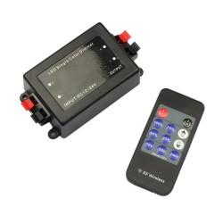 Stmievač pre LED pásy s RF Diaľkovým ovládaním 11-Keys 8A DC12/24V
