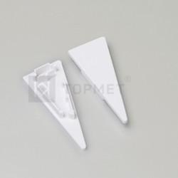 Koncovky pre hliníkový profil WALLE12-biele / pár