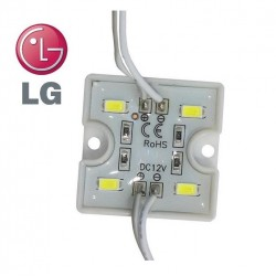 LED modul 4xSMD5730 1,28W 120Lm 12V Cold White IP65