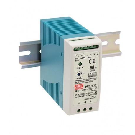 Napájací zdroj s funkciou UPS pre 24V akumulátor Mean Well DRC-60B