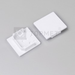 Koncovky pre hliníkový profil LINEA20 - silver / pár