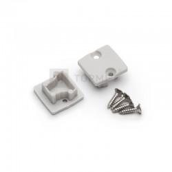 Koncovky pre hliníkový profil FLOOR12 šedé / pár