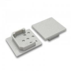 Koncovky pre hliníkový profil LINEA20 - grey / pár