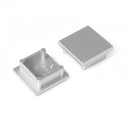 Koncovky pre hliníkový profil Smart16 - silver/pár