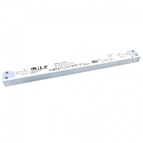 LED nábytkový napájací zdroj 12V-75W IP20 GTPC-75-12-S