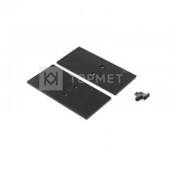 Koncovky pre hliníkový profil VARIO30 - E7-zliatina - čierne/pár