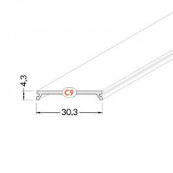Difúzor transparentný C9 CLICK pre profil VARIO30