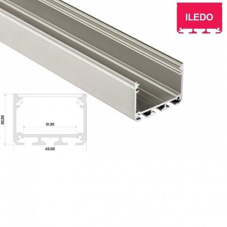 Hliníkový profil pre LED pásy LUMI ILEDO - ELOX