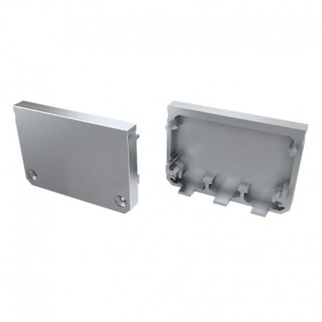 Koncovky pre hliníkový profil LUMI ILEDO grey/pár