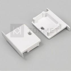 Koncovky pre hliníkový profil LINEA-IN20-silver / pár