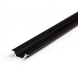 Hliníkový profil pre LED pásy GROOWE - zápustný - čierny anodovaný