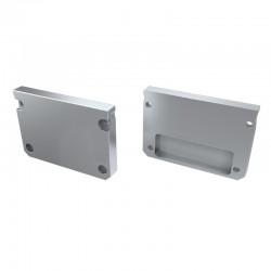 Koncovky pre hliníkový profil LUMI ILEDO hliníkové/pár