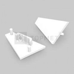 Koncovky pre hliníkový profil CORNER14 biele/pár