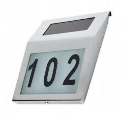 LED solárne orientačné číslo domu 3,2V 0,16W Cold White 10Lm IP44