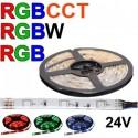 24V LED pásy RGB, RGBW a RGB+CCT
